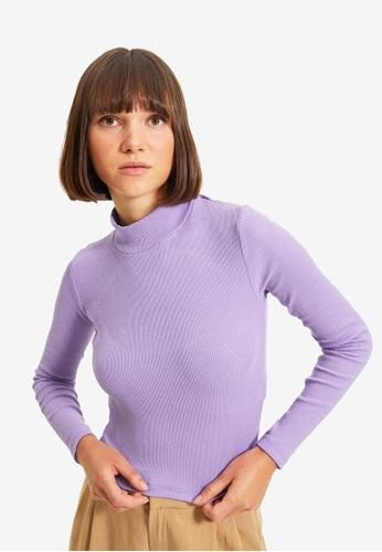Trendyol purple Lila Blouse 9C95EAAF6B7D99GS_1