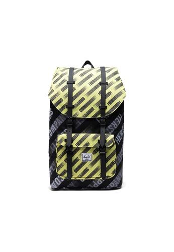 Herschel yellow Herschel Little America Backpacks - HSC Motion Black/Highlight D0F50ACE9AAB82GS_1