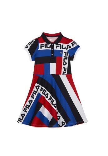 FILA navy FILA KIDS Colour Block Cotton Dress 8-15yrs 3B747KADA21781GS_1