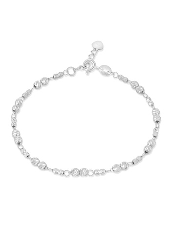 MaBelle silver 14K/585 White Color Gold Gold Beads Bracelet 24158ACA08B454GS_1