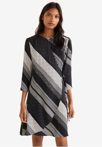 Mango black and white Printed Dress 176CFAA9F16175GS_1