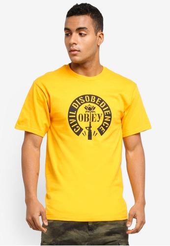 OBEY yellow Civil Disobedience Limited ETD T-Shirt C0FC5AAA8D3CBFGS_1