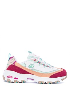 03a4abf3 Skechers white and multi D'Lites - Second Chance Sneakers D0DD2SH908BFDEGS_1