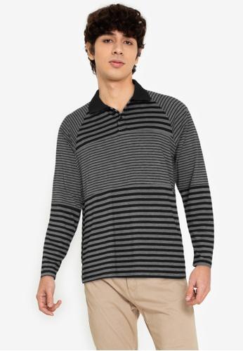 ZALORA BASICS multi Panelled Stripes Polo Shirt 772E3AA9176E48GS_1