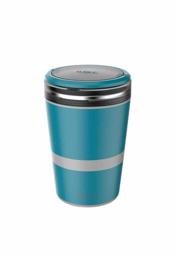 Slique green Stainless Steel Lunch Box 2 Layer Food Storage & 1 Spork 651CEHL258460FGS_1