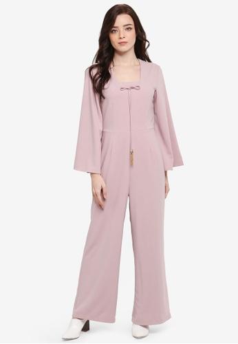 Zalia pink Kaftan Jumpsuit 862FDAACAF7279GS_1