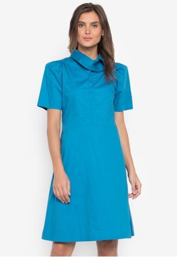 CANVAS blue Dress Faith Exaggerated Neck DC77DAAB849C98GS_1