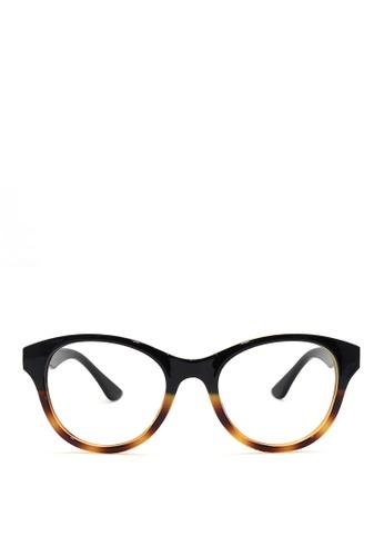 Kaca-kaca black and multi Kaca Kaca Felicia Black Leopard Eyeglasses KA666AC0RJCSMY_1