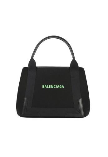 BALENCIAGA black Balenciaga Navy Cabas S Tote Bag in Black 6912AAC523297AGS_1