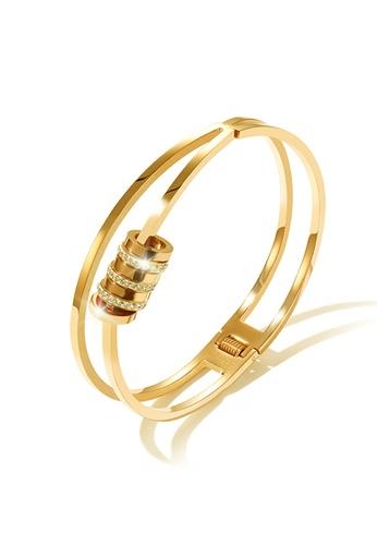 CELOVIS gold CELOVIS - Jordana Flow Rings with Zirconia Double-layer Bangle (Gold) 66856AC647654FGS_1