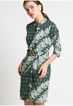 ARJUNA WEDA green Sackdress Batik Rami Parang Kembang AR541AA96CIPID_1