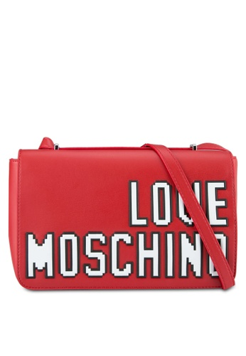 Love Moschino red Borsa Soft Nappa Top Handle Bag LO478AC0SEJ2MY_1