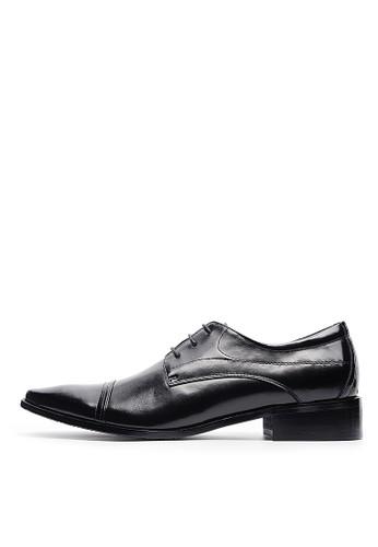 頭層牛皮。紳士極簡商務皮鞋-04692-黑色,esprit台灣網頁 鞋, 皮鞋