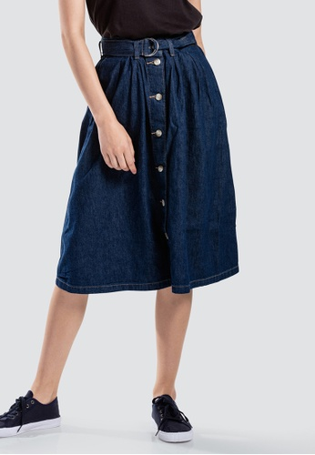 Levi's Levi's Button Flare Skirt 77884-0001 5FE89AA568BE0AGS_1