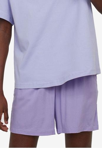 H&M purple Wide Shorts B595BAA46F4591GS_1