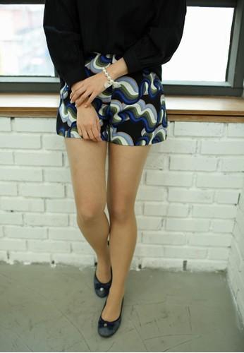 Acacia 印花短esprit outlet褲, 韓系時尚, 梳妝