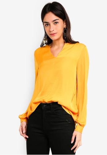 Vero Moda orange Sandra Long Sleeve Top 8B401AAA91AB2EGS_1
