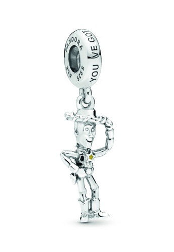 PANDORA silver Pandora Disney Pixar Toy Story Woody Dangle Charm 49A99AC5B7CCF1GS_1