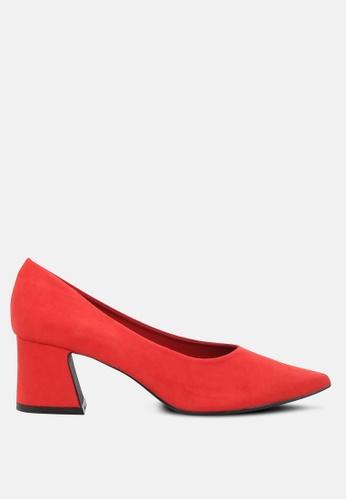 London Rag red Block heel pumps 715D5SH806A561GS_1