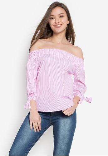 Hot Kiss pink Ladies Woven Blouse HO592AA0KE17PH_1