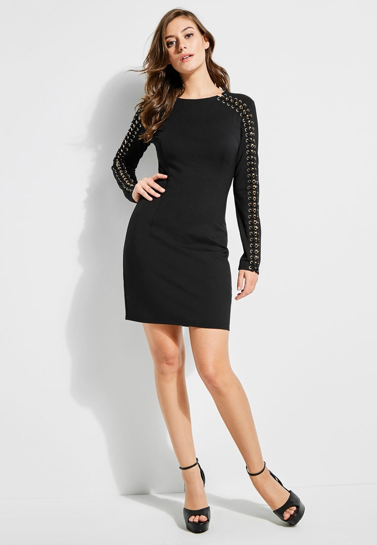 Guess Bodycon Arisa Studded Jet Up Lace Dress Black Ox4wX