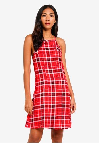 Factorie red High Neck Slip Dress 53060AA89C1015GS_1