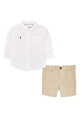 RAISING LITTLE white and brown Moises Outfit Set 7A972KA285BC3FGS_1