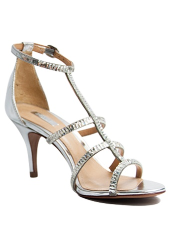 Covet silver Schutz Lavinia Heeled Transparent Strap Sandals CO331SH37HBYPH_1