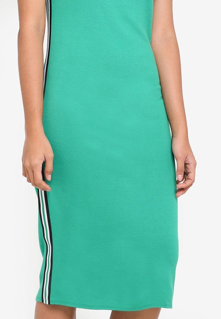Green Dorothy Sleeve Short Khaki Bodycon Dress Perkins 7FagnqwAn