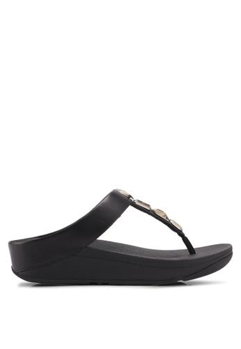 Fitflop black Roka Toe-Thong Sandals 113F3SH955382AGS_1