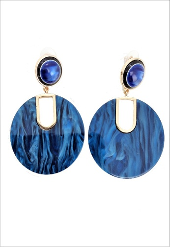 My Flash Trash blue Navy Marble Statement Earring CCEBBACC8B66E6GS_1