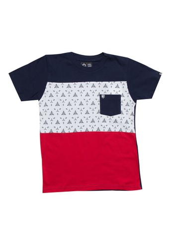 SHARKS white and red and blue Pattern Pocket Tshirt 8F813KAA72596CGS_1