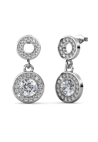 Her Jewellery silver Her Jewellery Oro Dangling Earrings with 18K Gold Plated DF568AC2768A45GS_1