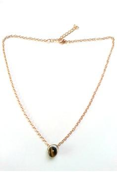 Tiger Eye Charm Dainty Necklace