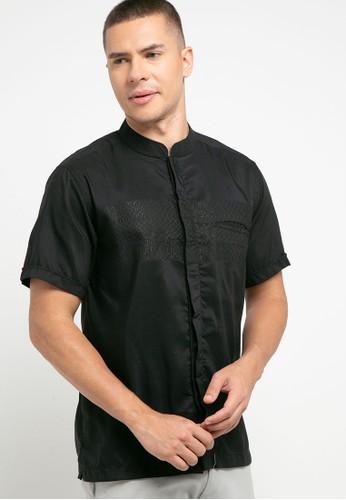 Introspect clothing black Kemeja Koko 82927AAB4B0B99GS_1
