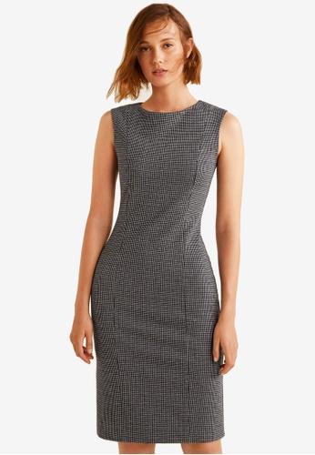Mango black Check Pattern Mini Dress 1A0ECAA4C1112BGS_1