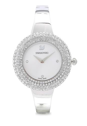 SWAROVSKI silver Crystal Rose Metal Bracelet Watch A53C8ACC49CECAGS_1