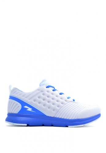 ACCEL white and blue Champ Running Shoes 9D92ESH8B4B8C4GS_1