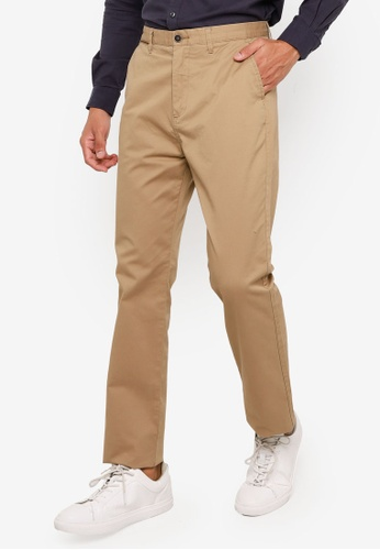 Springfield beige Stretch Chino Pants B3370AACE0C6A4GS_1