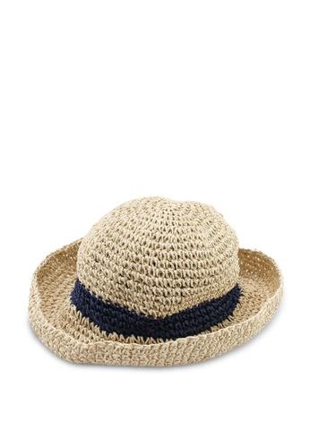 OVS 米褐色 編織帽 4A568AC8EAACFEGS_1