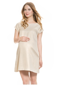 5ea4aa54f060e Mayarya gold Mayarya Fuchsia V Back Shift Maternity Dress B5D9CAA81EC852GS_1