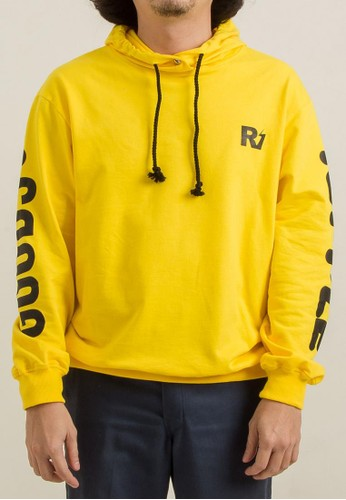 THE GOODS DEPT yellow and brown Ripple - LOGO HOODIE.MUSTARD 373F0AA0DD06A2GS_1