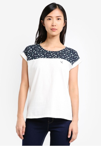 REGATTA white Tee With Cut And Sew Panel RE699AA0SN1WMY_1