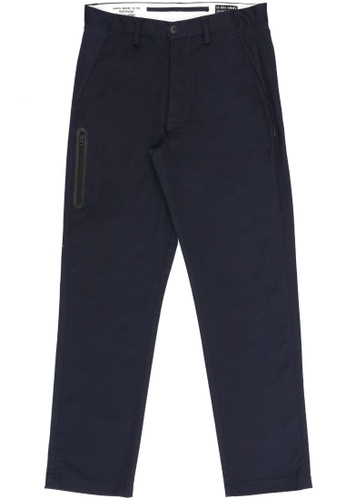izzue navy Straight cut pants 80ACEAACE1B301GS_1