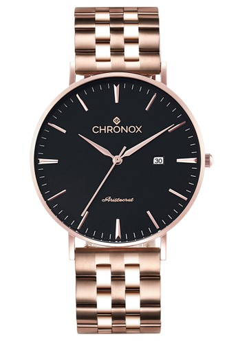CHRONOX gold Chronox CX1002/C1 - Jam Tangan Wanita Casual - Tali Stainless Steel Gold - Hitam Rose Gold 98799ACC526C36GS_1