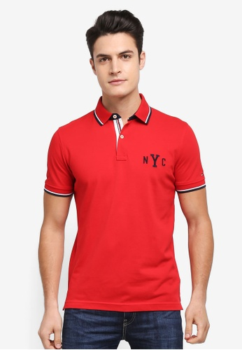 Tommy Hilfiger red WCC AVERY TIPPED POLO S/S RF B6D5BAABF97F37GS_1