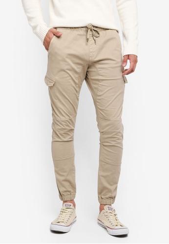 Indicode Jeans 白色 抽繩縮口休閒長褲 3F408AAD948339GS_1