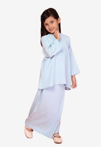 LITTLE TATARA blue The Mawar - Baju Kurung Kedah Blue 6CBF4KAB911996GS_1