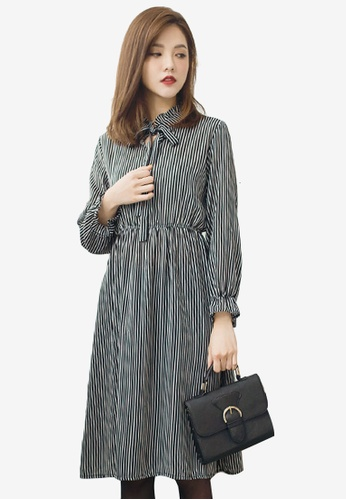Sesura black Preppy Missy Stripes Dress 667F4AAF5E8C11GS_1