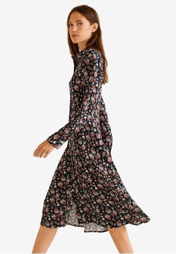 1eee69f172 Mango black and multi Floral Print Dress 5EF34AACF5FDEEGS 1